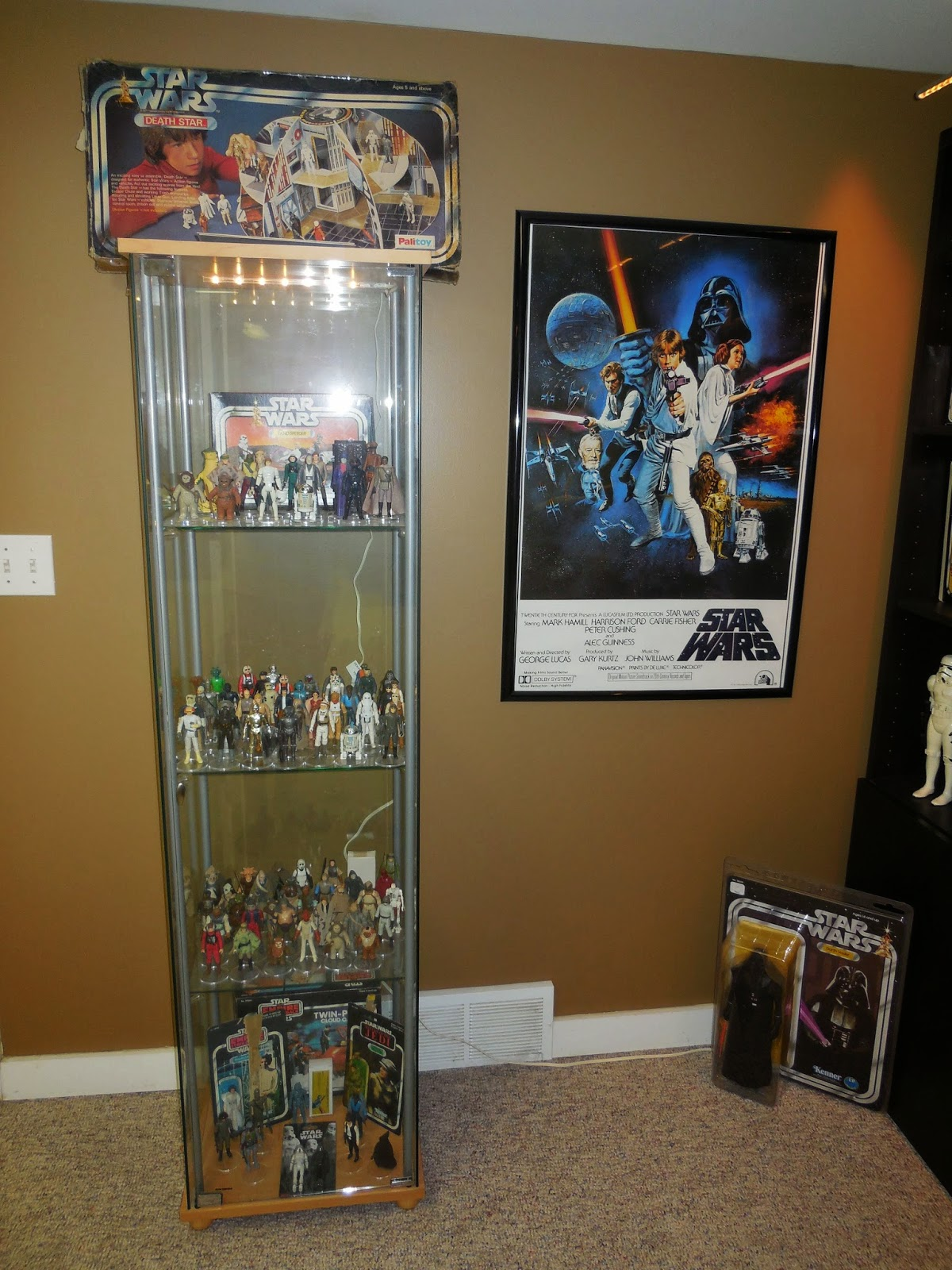 Vintage Kenner Star Wars Toys Display Limelight