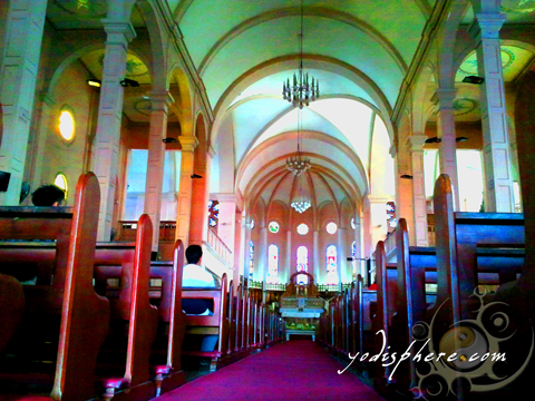 Architectural details of the interior of the Baguio Cathedral