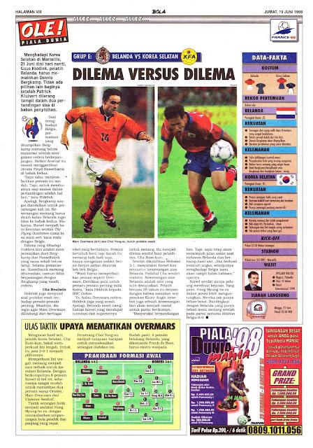NETHERLAND VS SOUTH KOREA WORLD CUP 1998