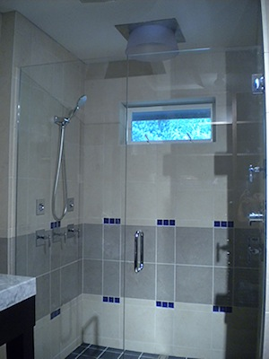 biggest rain shower head. This Shower Rocks My World With 4 Body Jets And That HUGE Rain Head  Lights Up Blue LED When Turned On One Project At A Time DIY Blog Bath Crashers Master Bathroom Reveal