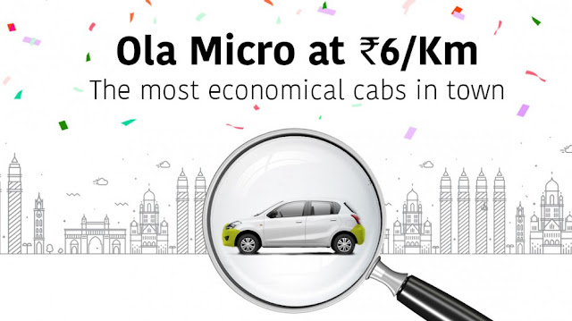 OLA Micro the most economical cab by OLA