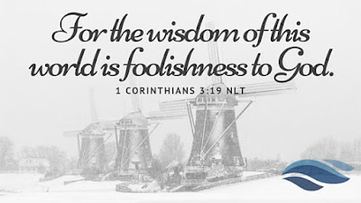 For the wisdom of this world is foolishness to God.