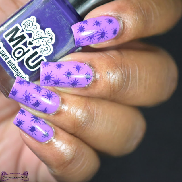 Purple Tone On Tone Stamping