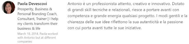 testimonianza feedback Skills Endorsements Linkedin