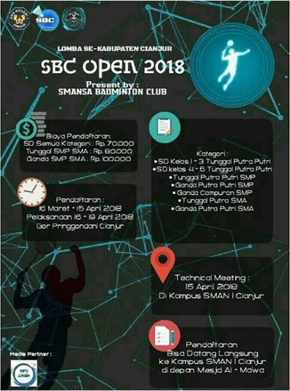 Lomba Badminton SBC Open 2018 SMAN 1 Cianjur