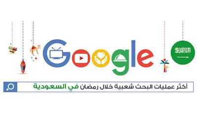 أكثر عمليات البحث شعبية خلال شهر رمضان في السعوديه