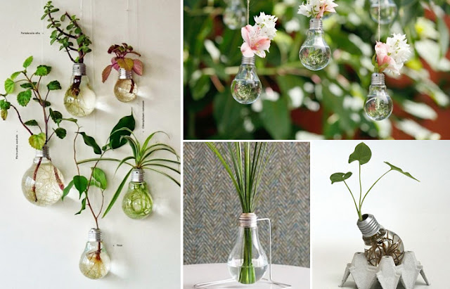 Ideas para decorar con focos bombillas recicladas Bombillas de decoracion