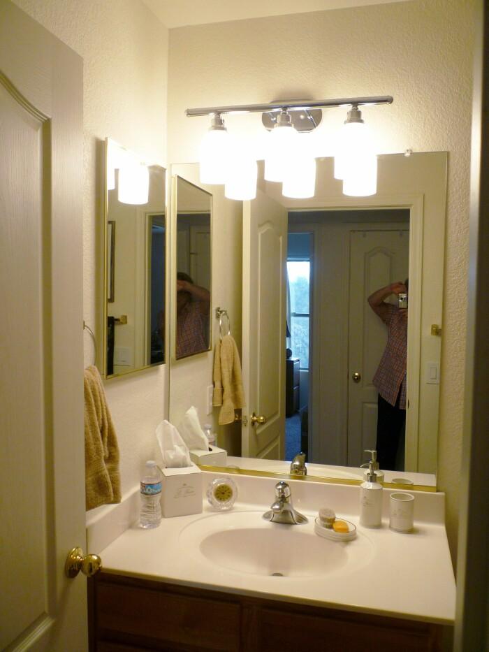 A Stroll Thru Life The Wrong Light For The Hall Bathroom