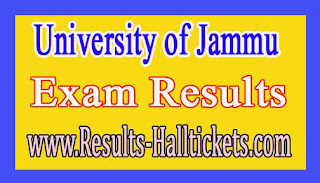 University of Jammu U.G Part-3 Bi-annual 2016 Exam Results