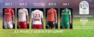 Kits As Nancy GDB 2016-2017 Pes 2013