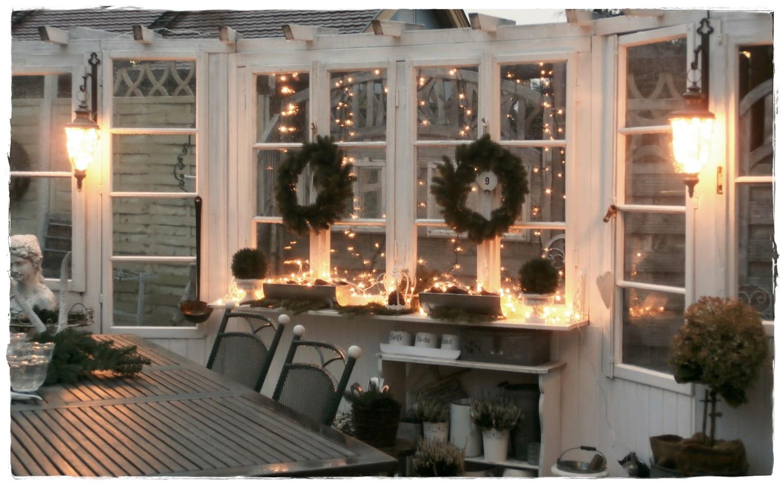 Weihnachtsdeko An Der Haustür.Shabby Landhaus 2014