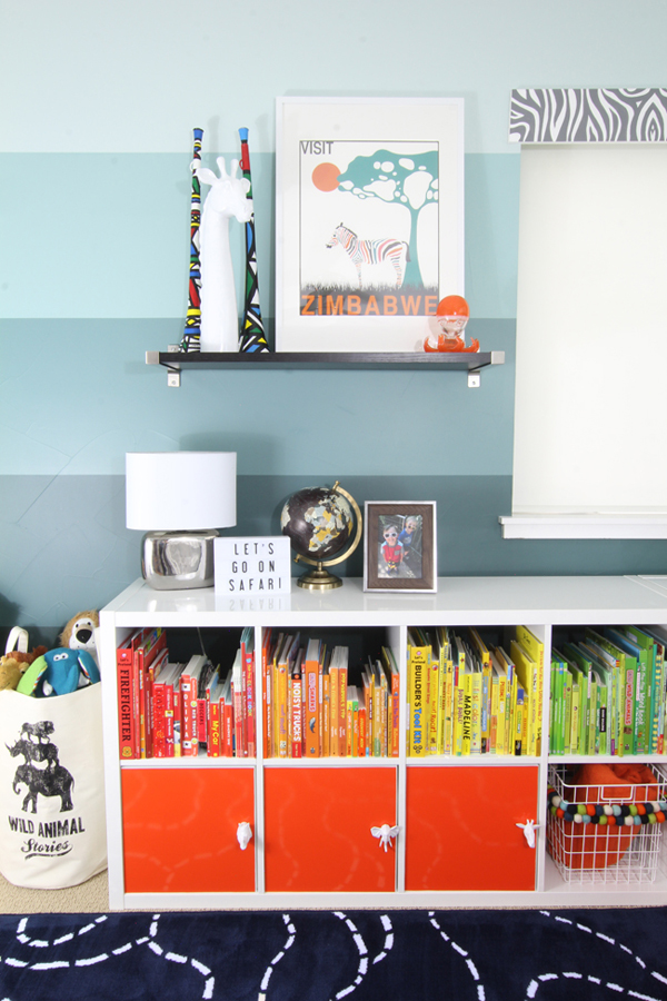 visual she explains the basics like turquoise great school open style a of an decorating how on styling i bookshelf to really tips