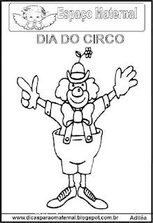 Dia do circo palhaços