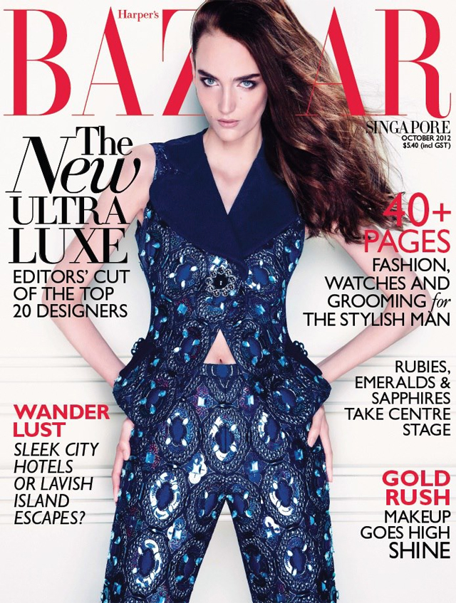 Zuzanna Bijoch covers Harper's Bazaar October 2012