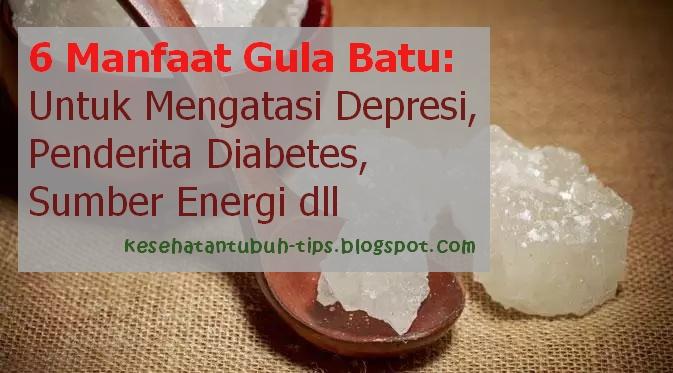 Gula kerikil dijadikan sebagian orang sebagai pengganti gula pasir Inilah 6 Manfaat Gula Batu: Untuk Mengatasi Depresi, Penderita Diabetes, Sumber Energi dll