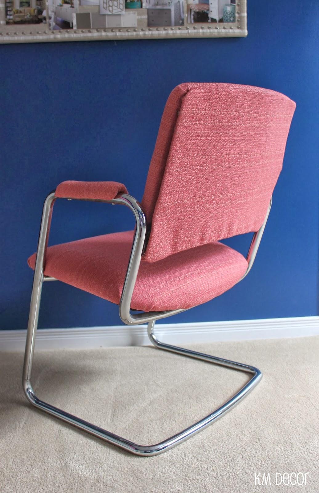 Desk Chair Diy Bean Bag Covers Walmart Km Decor Office Makeover
