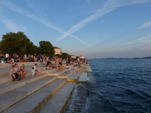 Kroatien Rundreise Camping Zelten Campingtrip Individual reisen Urlaub Sommer Dalmatien Zadar Meeresorgel
