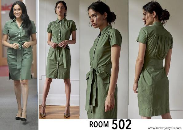 Meghan Markle wore ROOM 502 Stephanie Cotton Shirtdress