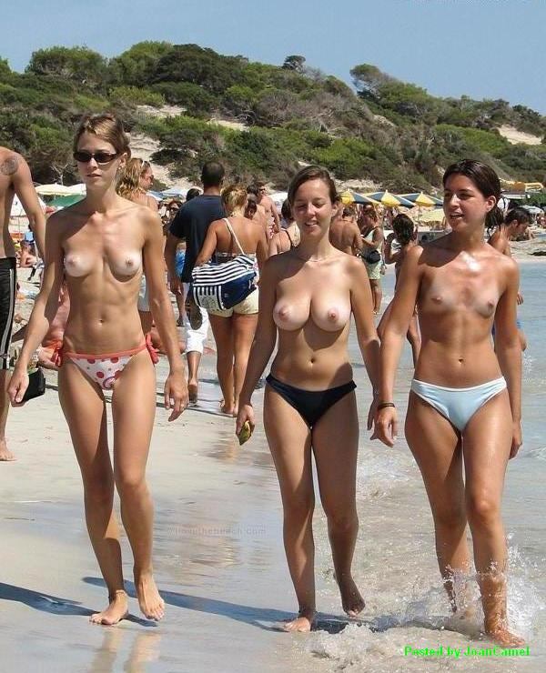 naked Candid nude beach pussy tits