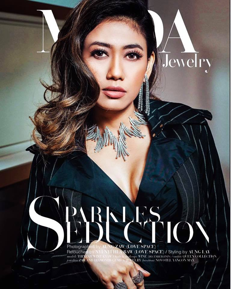 Thinzar Wint Kyaw Sparkles Seduction MODA Magazine Fashion Photoshoot