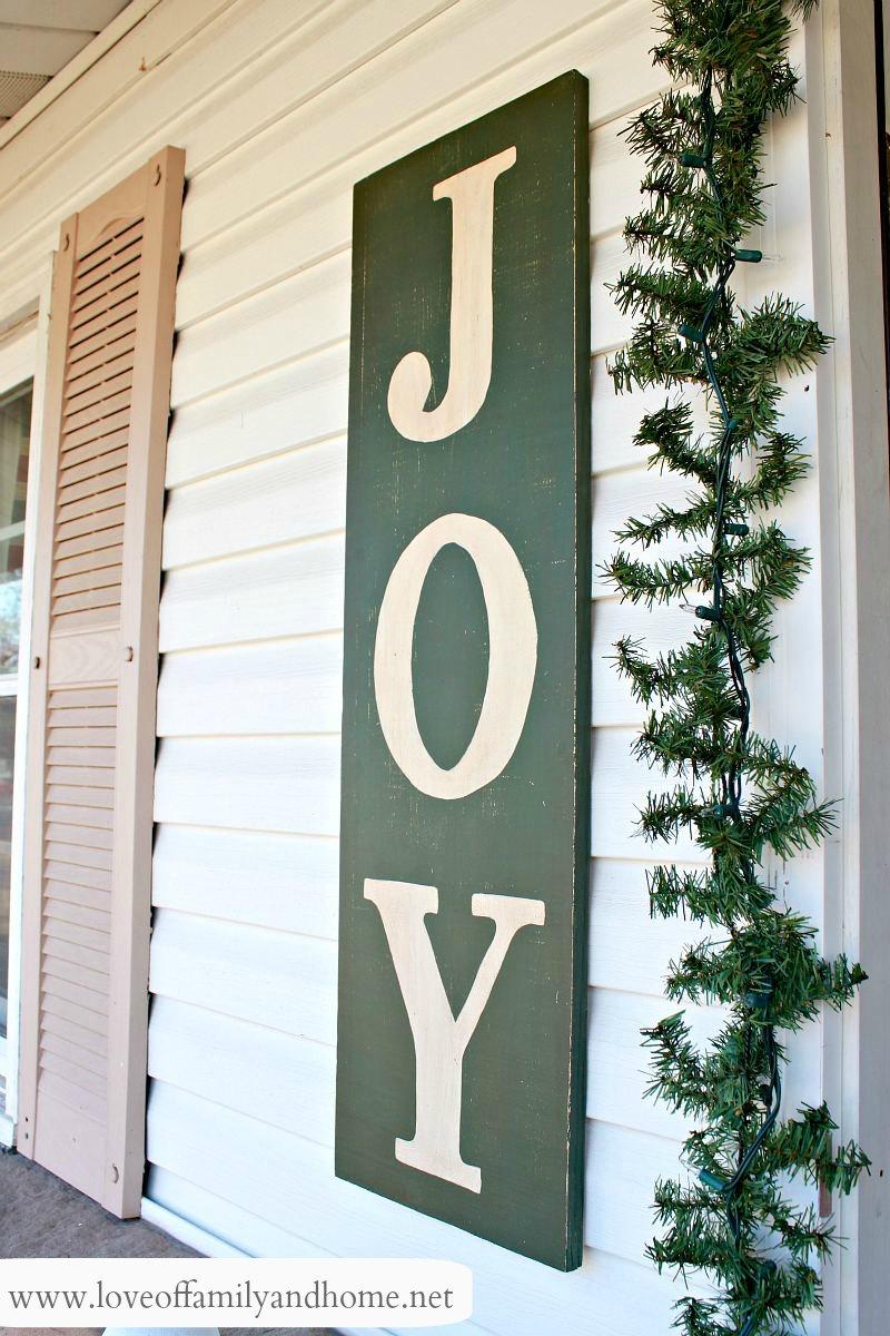 Painted Quot Joy Quot Sign Tutorial Pinterest Party With