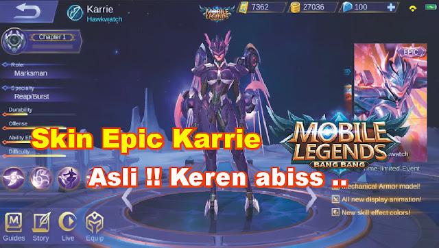 Skin Epic Karrie Mobile Legends: Bang Bang