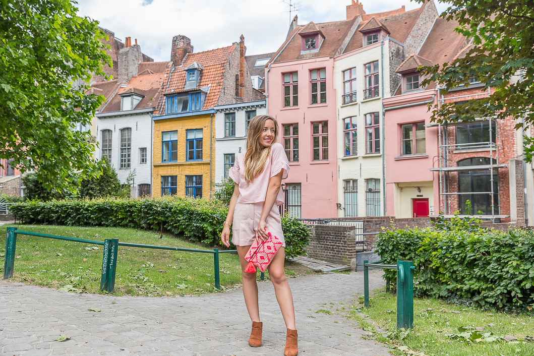 Blog mode tenue du jour total look rose pastel