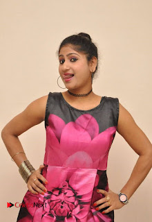 Actress Asmitha Khan Pictures in Floral Frock at Dirty Game Audio Launch 0004