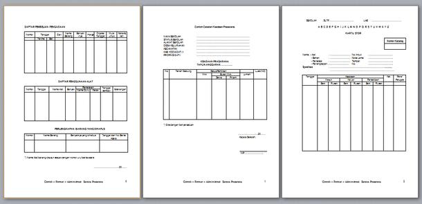 Contoh Format Administrasi Sarana dan Prasarana Pendidikan di Sekolah/Madrasah
