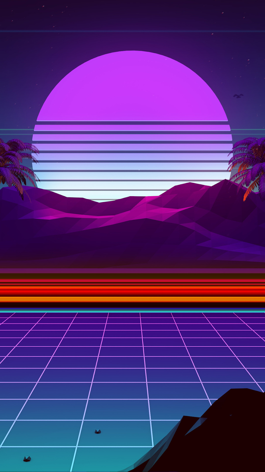 aesthesic vaporwave wallpaper for iphone or android mobile device