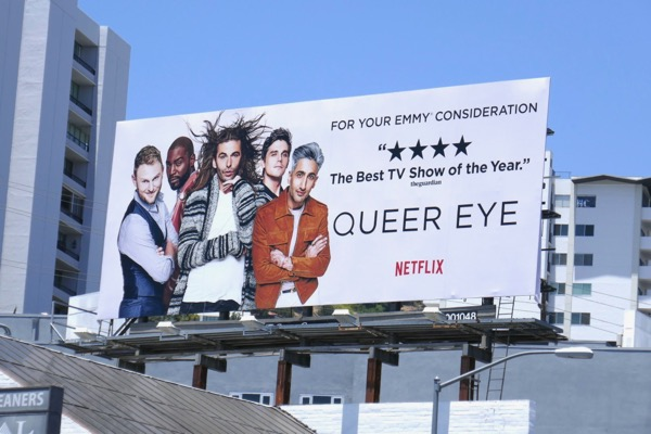Queer Eye Netflix season 1 Emmy FYC billboard