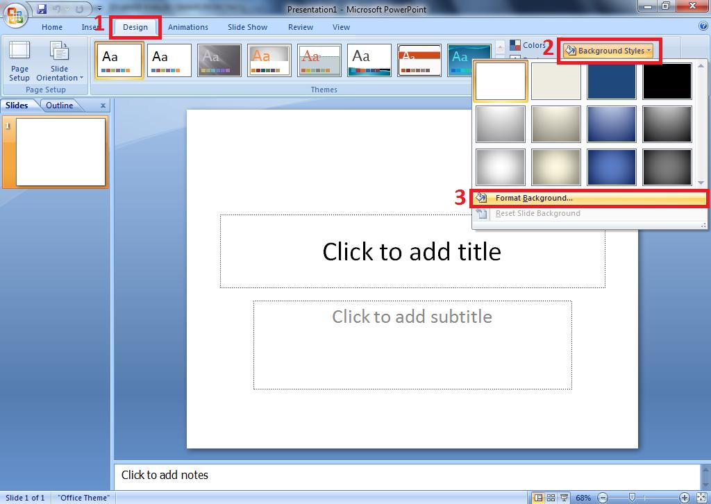 Cara merubah tampilan background dengan gambar sendiri di PowerPoint