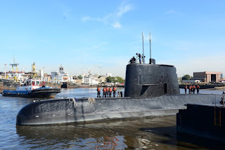 Argentina follows searches for submarine that disappeared with 44 crew on board