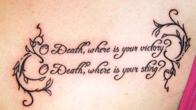 Life And Death Tattoo Quotes - Tattos Ideas