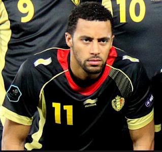 ناصر الشاذلي لاعب منتخب بلجيكا لكرة القدم