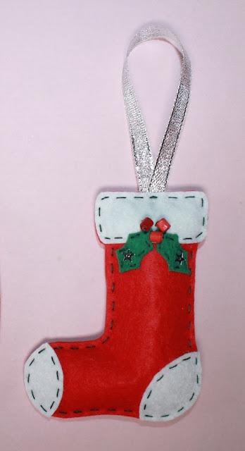 adornos de navidad fieltro