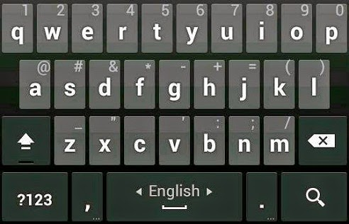 Write android keyboard