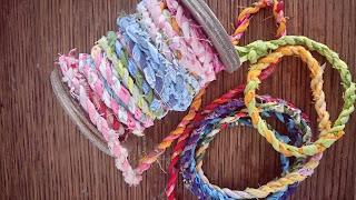 handmade scrap fabric twine