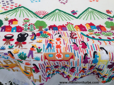Textiles and embroidery at Lake Patzcuaro Area