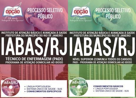 apostilas para Processo Seletivo Público IABAS - RJ 2018  TÉCNICO DE ENFERMAGEM