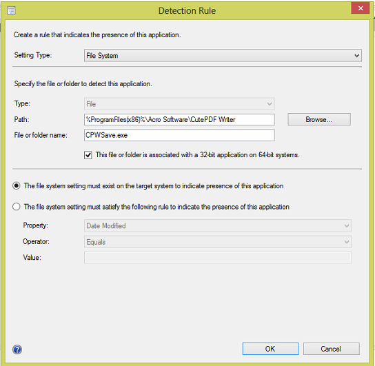 CutePDF Writer and GPL Ghostscript install using the SCCM Software Catalog 2