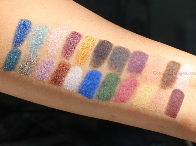 Kat von D Metal Matte Eyeshadow Palette Swatches