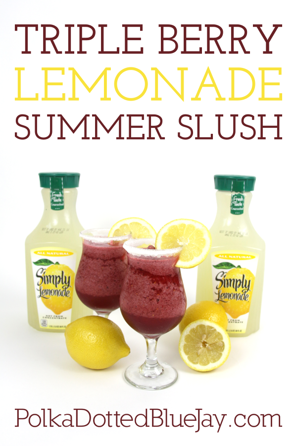 Looking for a way to keep cool this summer? Click here to see how to make a delicious triple berry lemonade summer slush that is perfect for sipping by the pool on a hot summer day. #AlwaysDelicious #ad