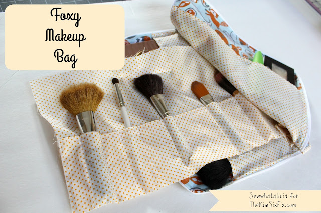Foxy Makeup Bag | the kimsixfix.com