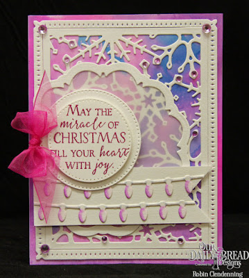 Our Daily Bread Designs, Merry & Bright, Christmas Lights, Snowflake Sky, Doily, Pierced Circles