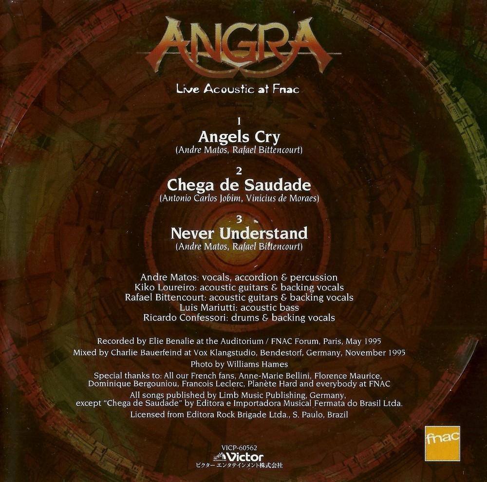 Sinta A Escuridão Metal Blog Angra Live Acoustic At Fnac