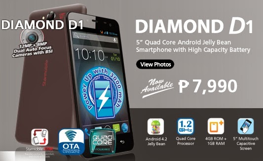 "Starmobile Diamond D1 5"" Quad Core Android Jelly Bean Smartphone"
