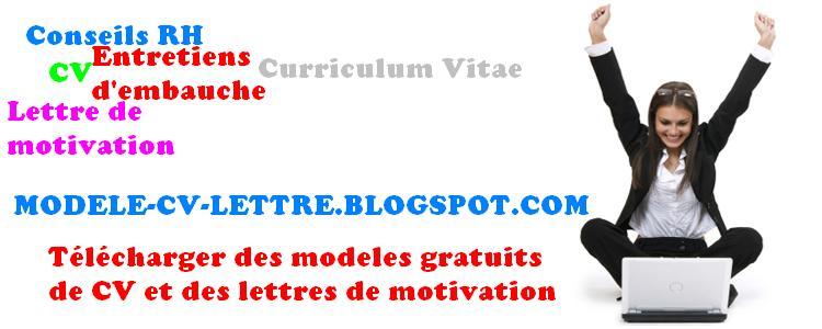 modele curriculum vitae lettre de motivation gratuit