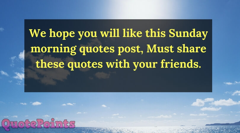 best sunday quotes