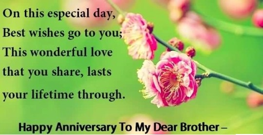 Hy First Wedding Anniversary Wishes For Brother With